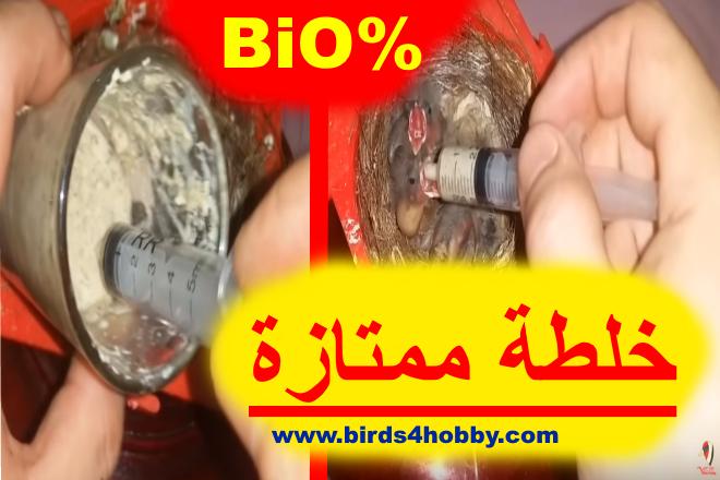 خلطة اطعام فراخ الكناري خلطة  إطعام  صغار الطيور  الحسون الكناري و الهجين . Bio %100