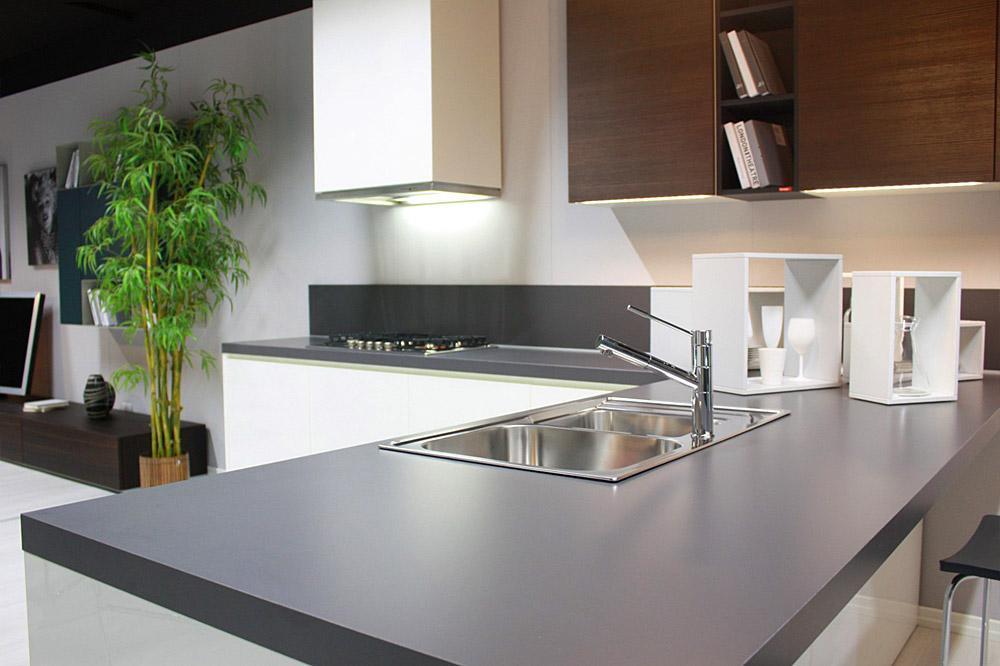 cucina con penisola gena design