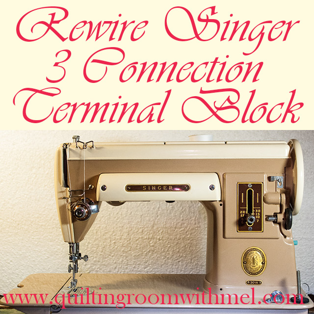 rewire singer three connection terminal block