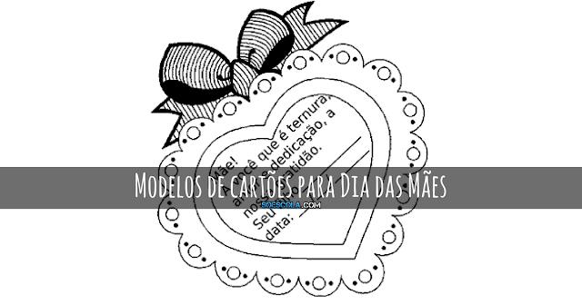 Modelos de cartões para Dia das Mães – Imprimir e colorir