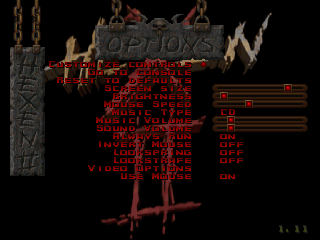 hexen 2 options menu screen