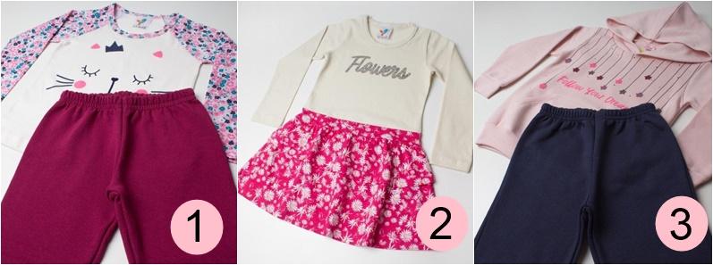 d121c68a6e971 1 - Conjunto Kids 2 pçs Natural - LX Têxtil Conjunto composto por duas  peças. Blusa confeccionada em meia malha