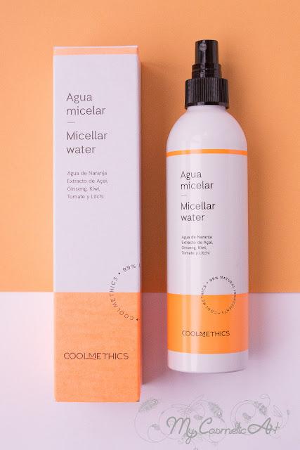 Probando Coolmethics: agua micelar, contorno de ojos, crema hidratante corporal y sérum capilar reparador.