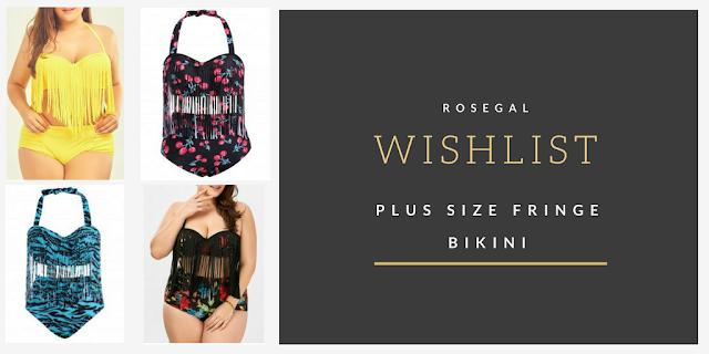 Plus size fringe bikini Wishlist- czyli co można znaleźć w Rosegal