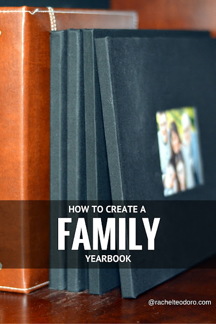 how to create a family yearbook using your family photos and a photo book service