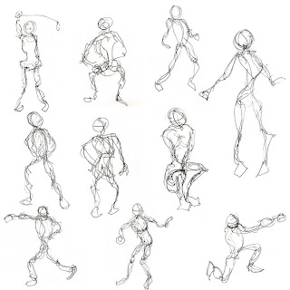 Basic Drawing 1: Examples of Gesture Drawing from the web