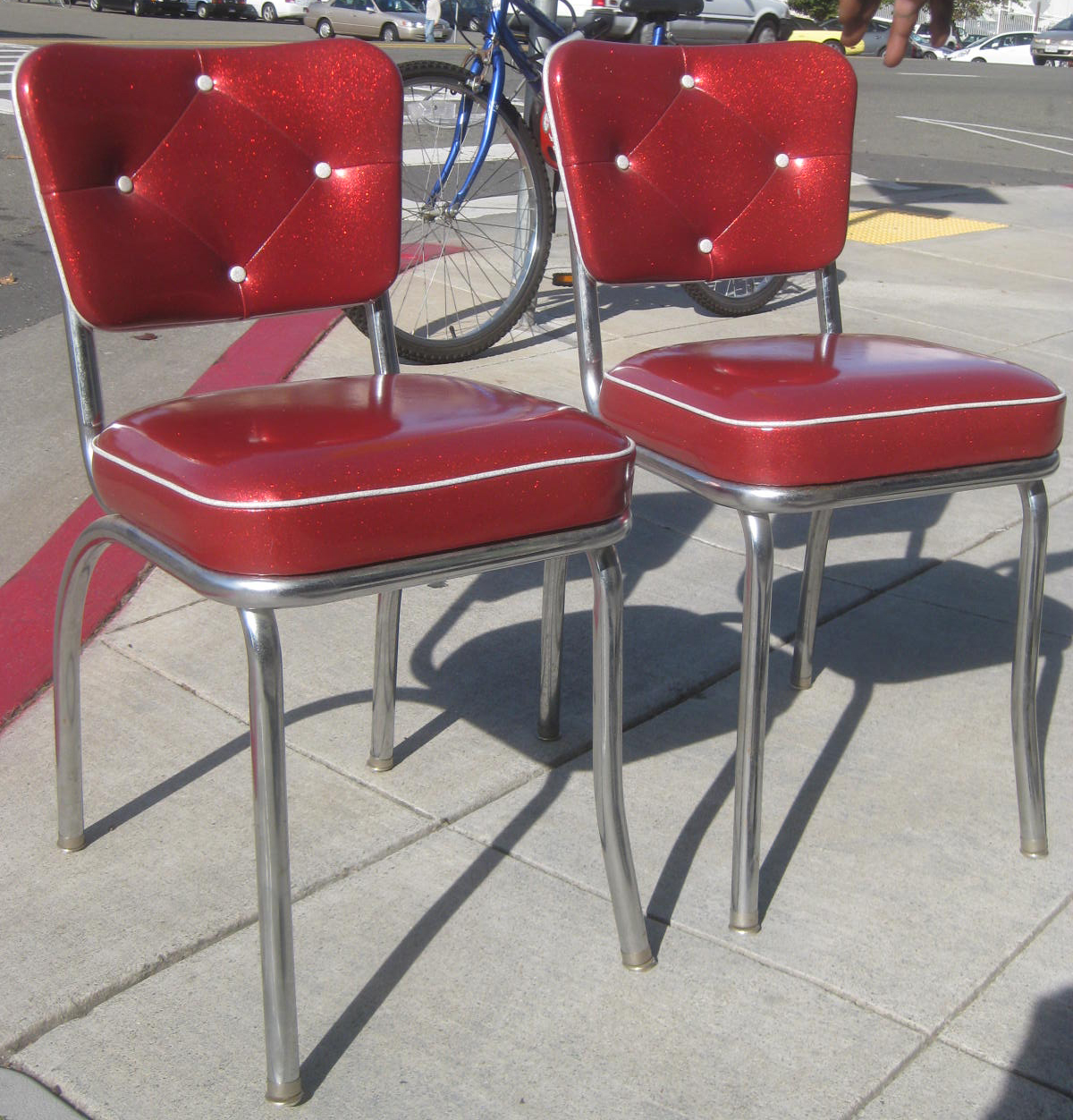 Red Retro Kitchen Table And Chairs Dining Chair Covers Spotlight Australia Uhuru Furniture Amp Collectibles Sold Two