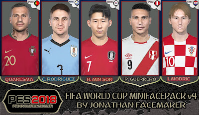 PES 2018 Mini Facepack World Cup 2018 v4 by Jonathan Facemaker