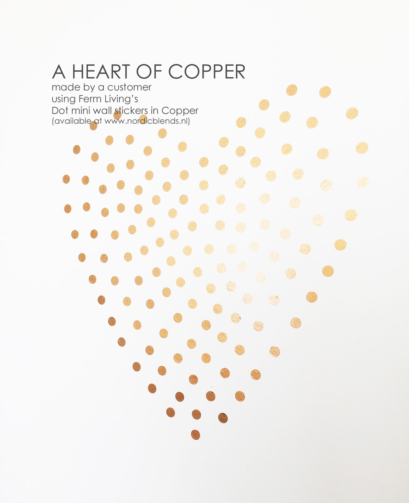 Muurstickers Ferm Living Nordic Blends A Customer 39s Home A Heart Of Copper