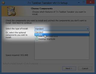 Taskbar Tweaker لويندوز7 و8 و10 نسخة بورتابل