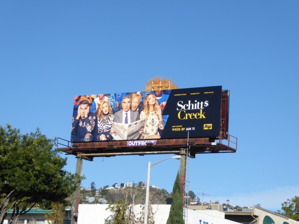 Schitts Creek season 3 billboard
