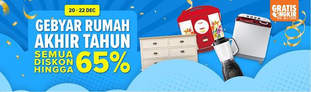 #Lazada - Promo Diskon s.d 65% di Gebyar Rumah Akhir Tahun 2018 (s.d 22 Des 2018)