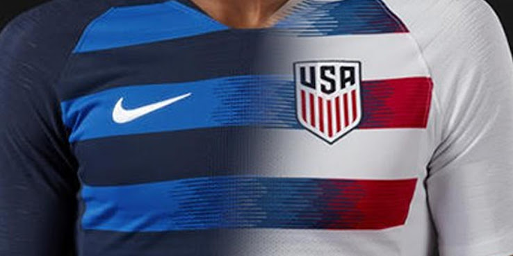 f7aedaddbe1 Graphic designers from La Casaca have imaged how a mixture of the new Nike  US Soccer 2018 home and away shirt would look like.