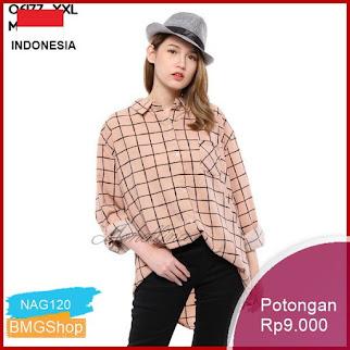 NAG120 06177 Baju Atasan Blouse Monalisa Kotak Mf Murah Bmgshop