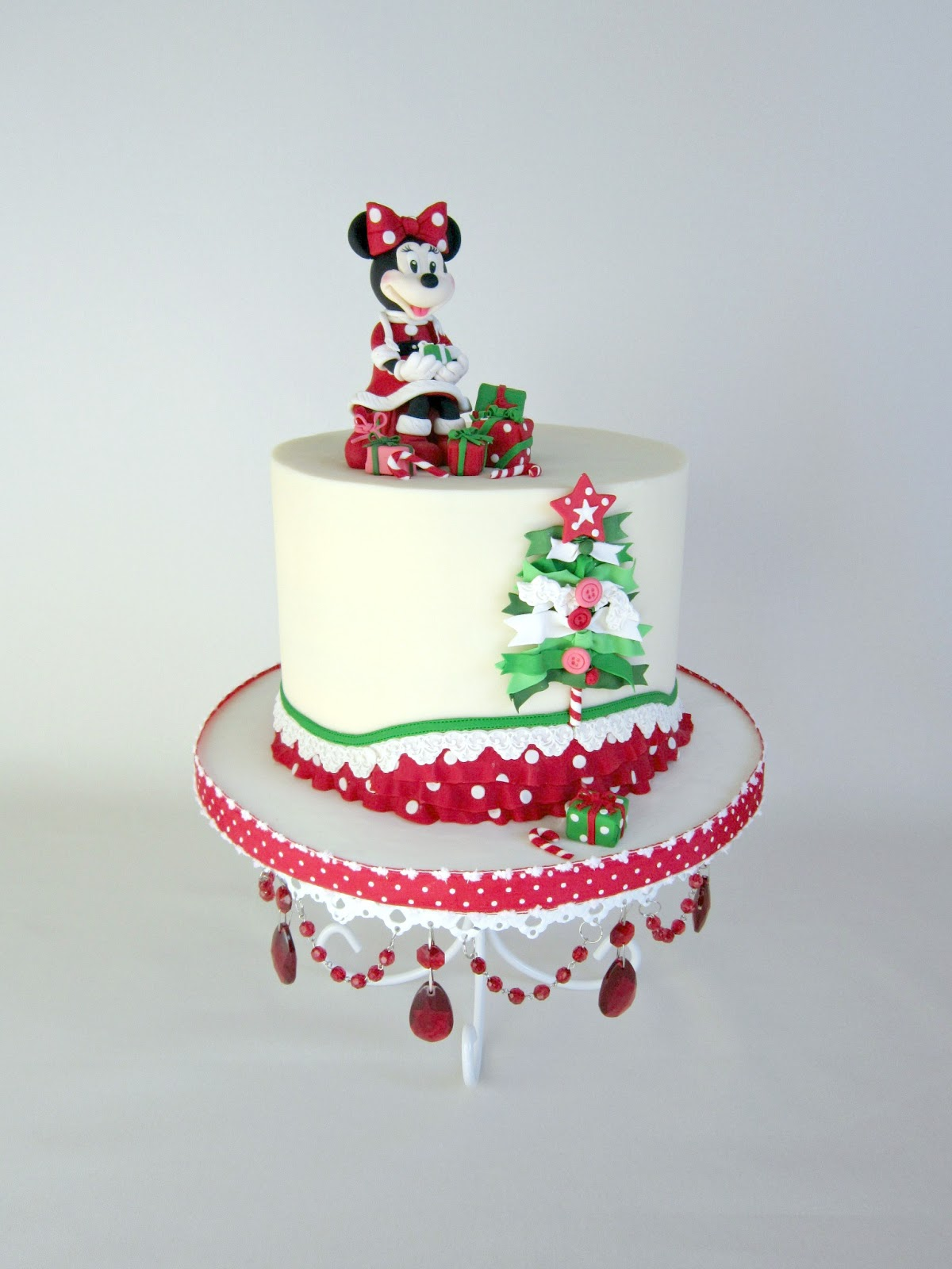 Delectable Cakes Adorable Minnie Mouse Christmas