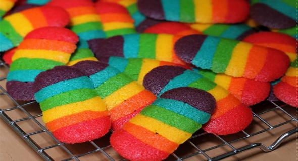 Resep Dan Cara Buat Kue Lidah Kucing Rainbow Ala Mas Ifan