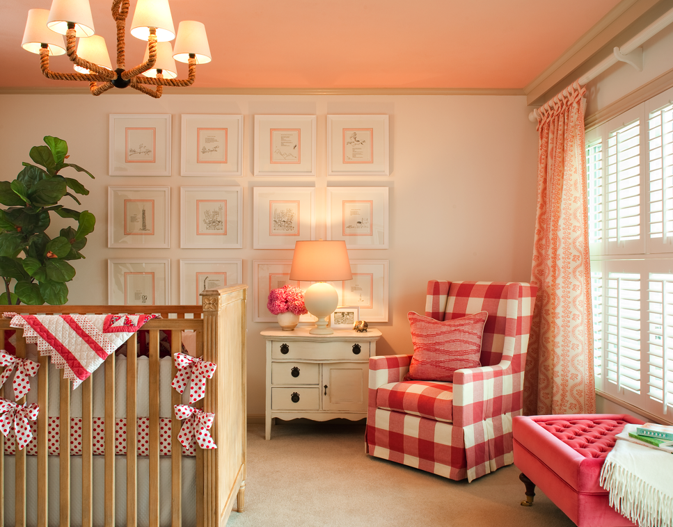 Hudson Baby Design Nursery Of The Week Raspberry And White
