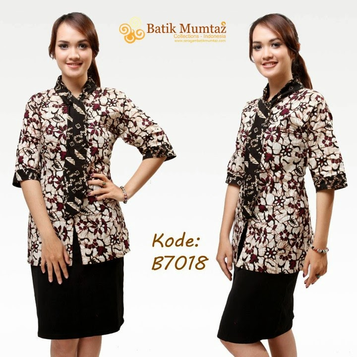 Yuk Lihat Model Baju Batik Kantor Batik Mumtaz