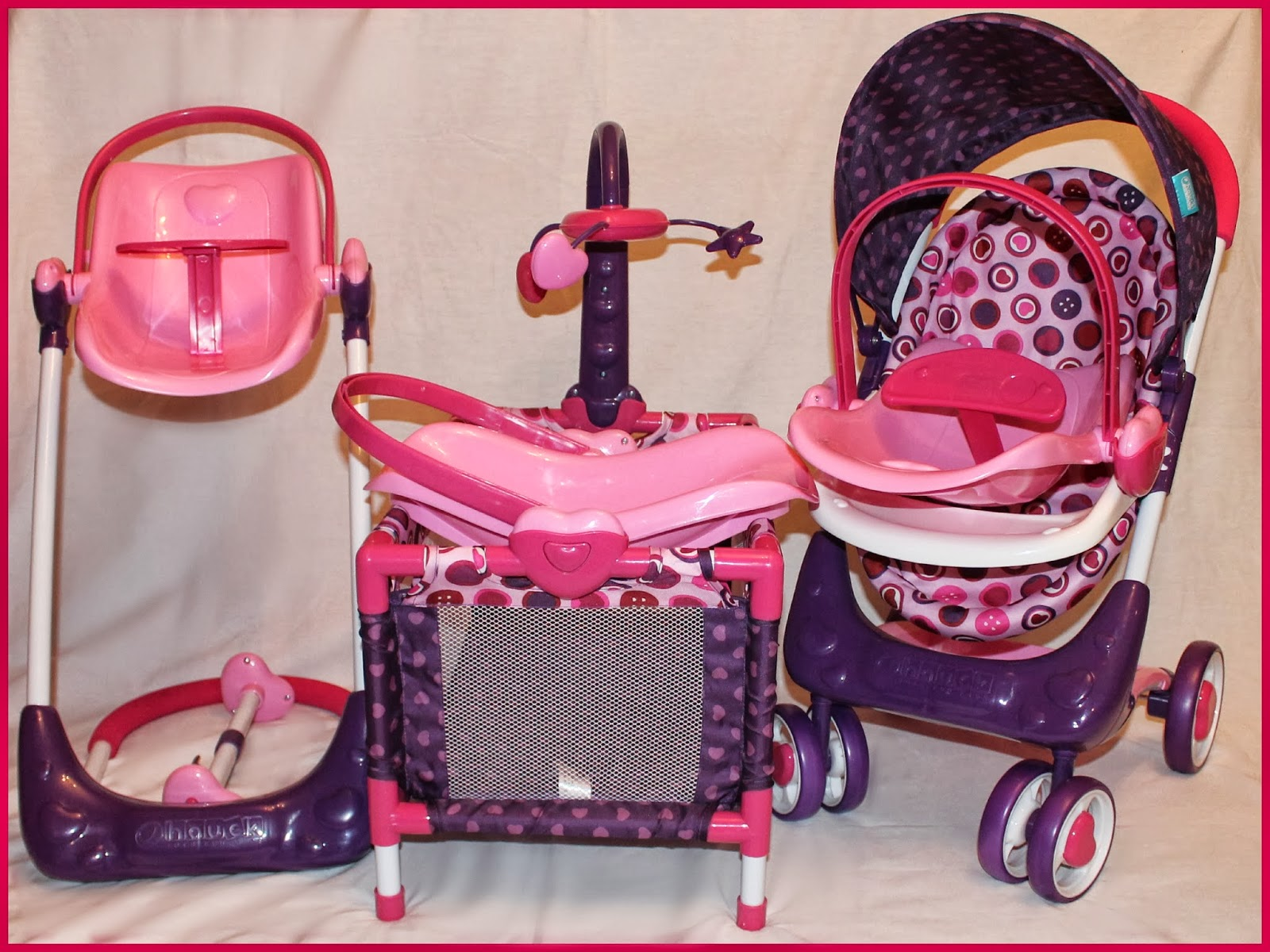 Baby Toy High Chair Set Cheap Papasan Frame Hauck Heart 2 Doll Thrifty Nifty Mommy