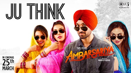 Ju Think Ambarsariya Diljit Dosanjh Music Video Navneet Monica Latest Punjabi Movie Song 2016