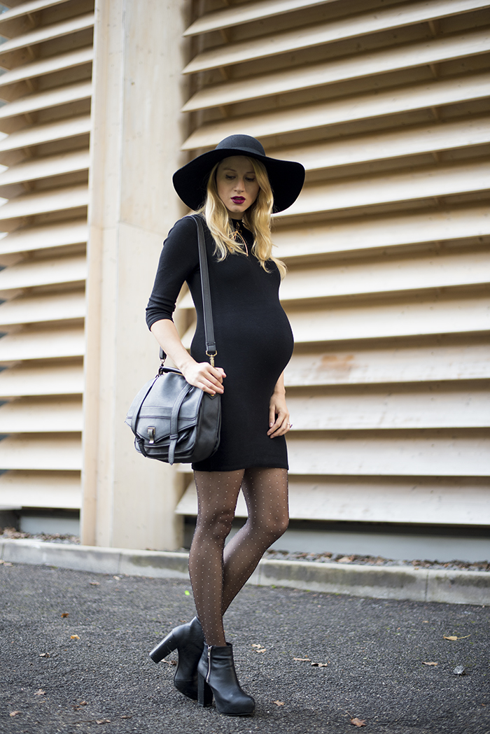 Skinny Buddha black new look dress H&M hat
