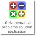 10 Mathematical problems solution application