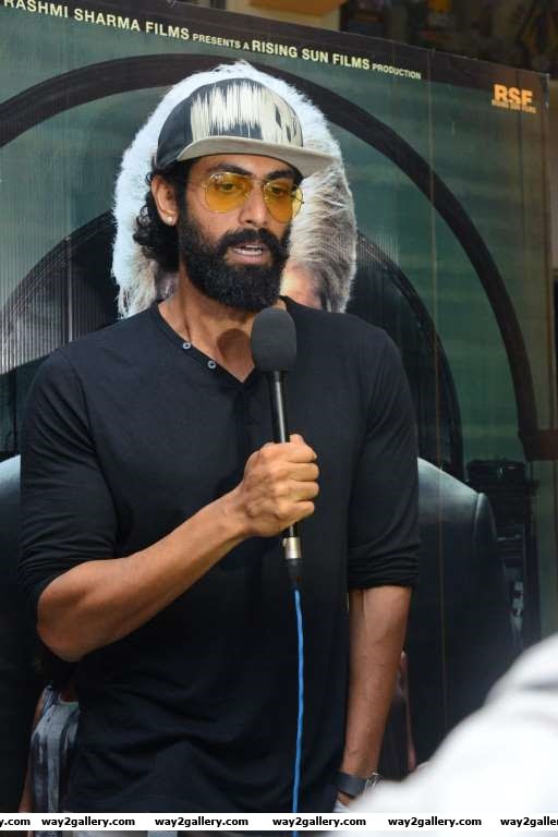 Rana Daggubati took time out from the shooting of Baahubali  to attend the special screening of Pink