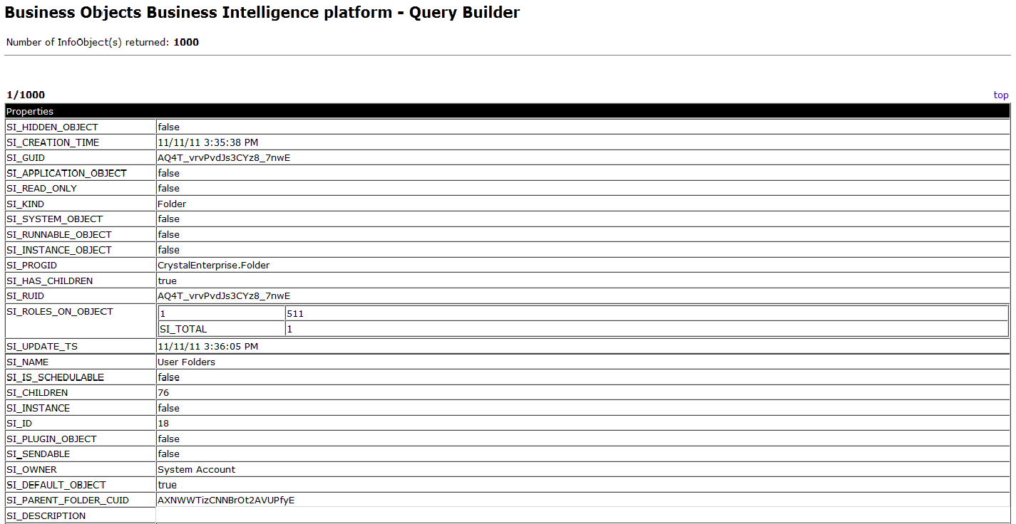 4.Query Result Window appears as