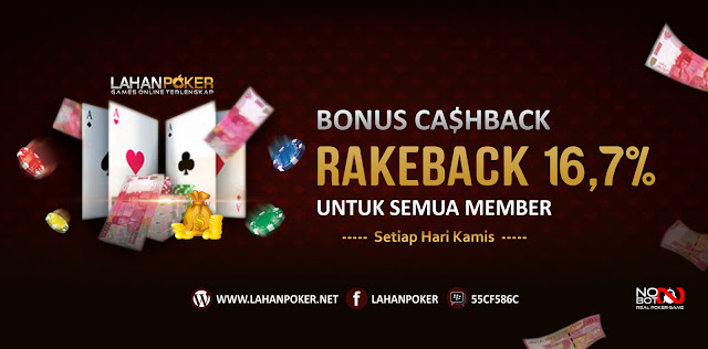 Bonus RakeBack Turn Over Untuk Semua Member