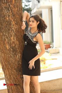 Actress Poojitha Pallavi Naidu Stills in Black Short Dress at Inkenti Nuvve Cheppu Movie Platinum Disc Function  0039.JPG