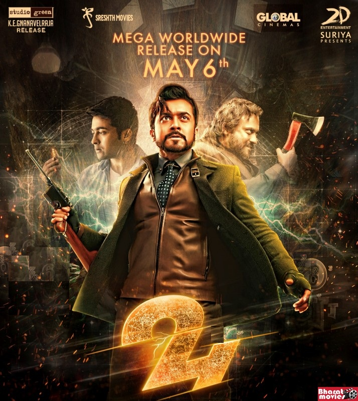 24 (2016) Dual Audio Hindi 720p HDRip 1.26GB