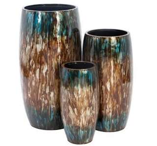 Aspire Home Accents Tall Colorful Metal Planters - Set of 3