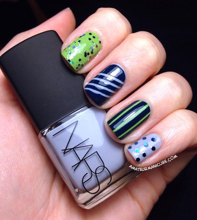 Amateur Manicure A Nail Art Blog Seattle Seahawks Nail Art