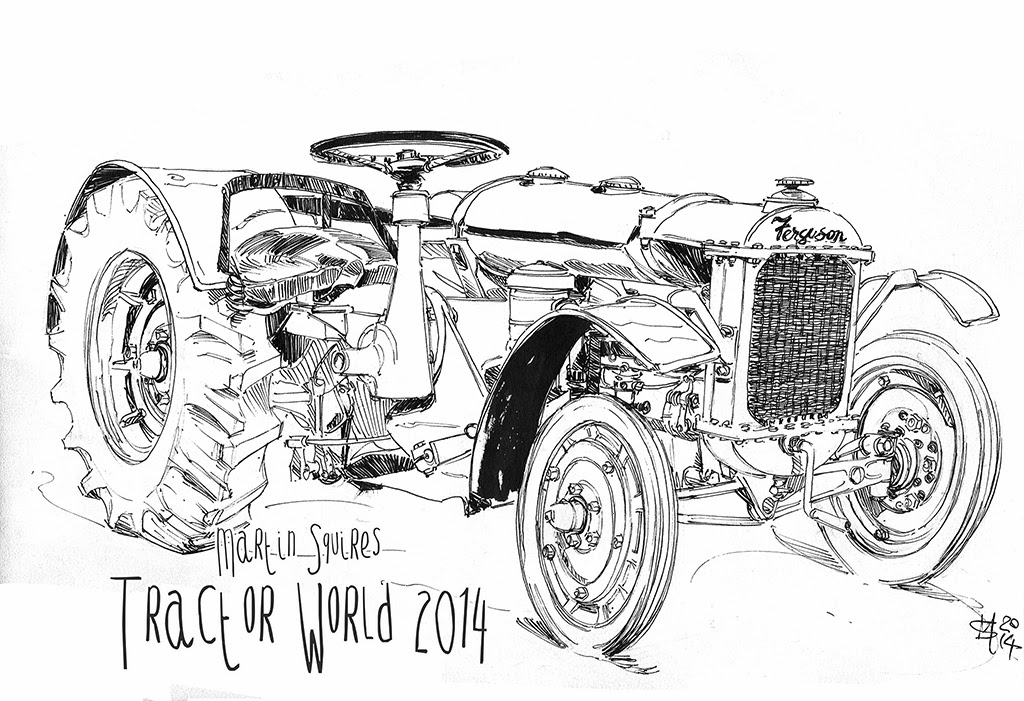 Martin Squires Automotive Illustration: Tractor World 2014