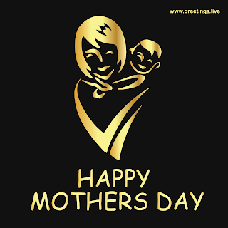 golden mother holding a baby happy mothers day greetings