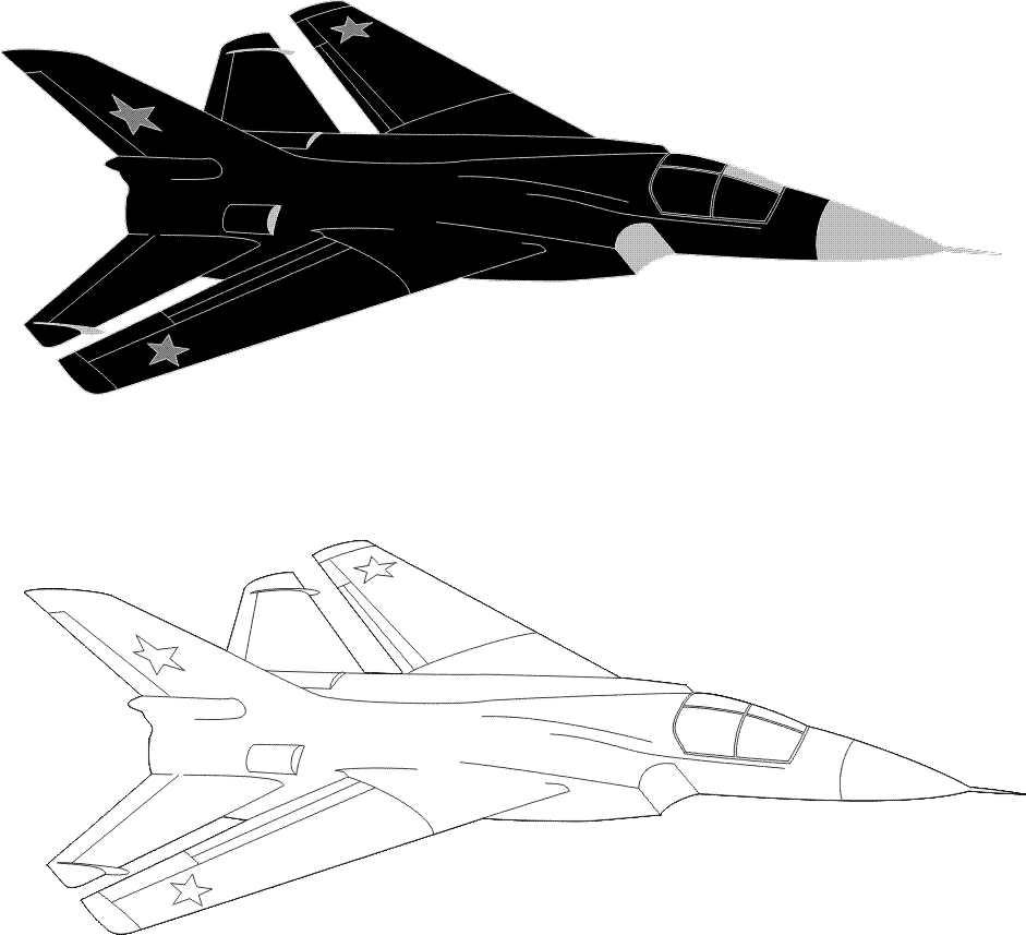 Avión De Combate Para Pintar