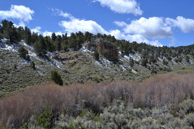 sudden hard rock in a soft hillside