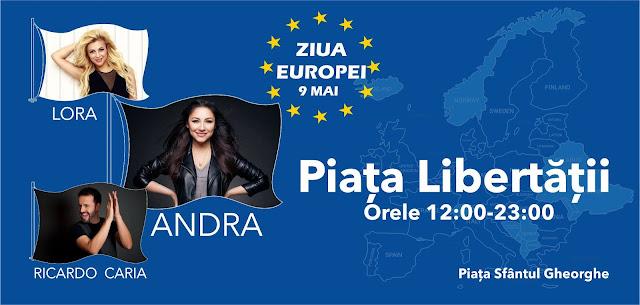 Ziua Europei la Timisoara. Concerte sustinute de Andra, Lora si Ricardo Caria
