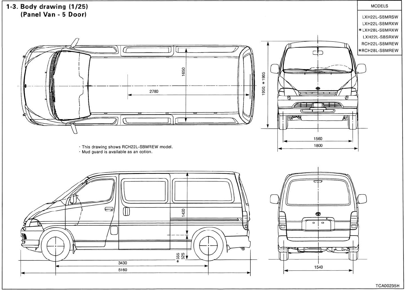 Toyota Sienna Van Dimensions