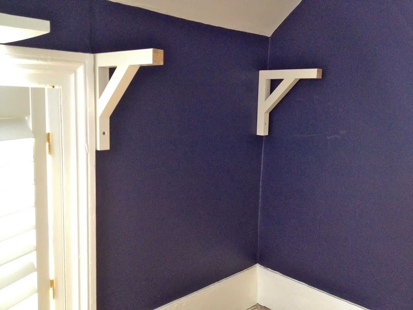 shelf support brackets installed