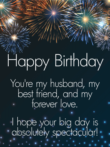 Send this Have an Amazing Celebration – Happy Birthday Wishes Card for Husband