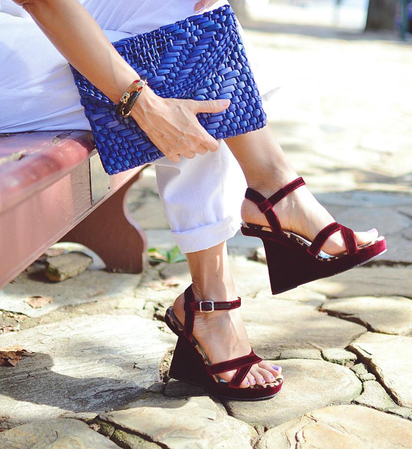 Velvet shoes trend