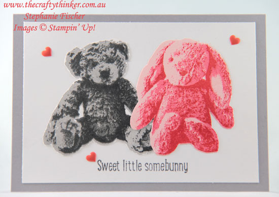#thecraftythinker, #cardmaking, #rubberstamping, #stampinup, #babycard, Sweet Little Something, Baby Bear, Baby card, Stampin' Up! Australia Demonstrator, Stephanie Fischer, Sydney NSW