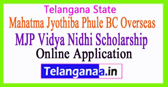 Mahatma Jyothiba Phule BC Overseas Vidya Nidhi Scholarship Apply