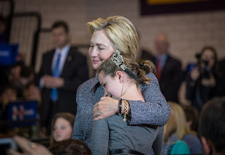 Chelsea clinton weeps with her Mother after Donald Trump declared the President elect.