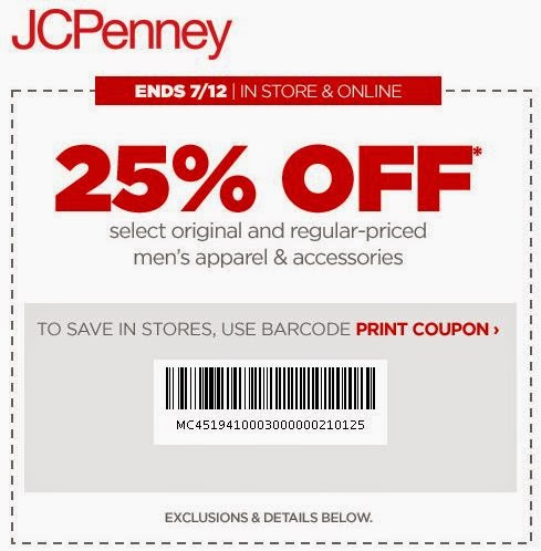 Current jcpenney coupons