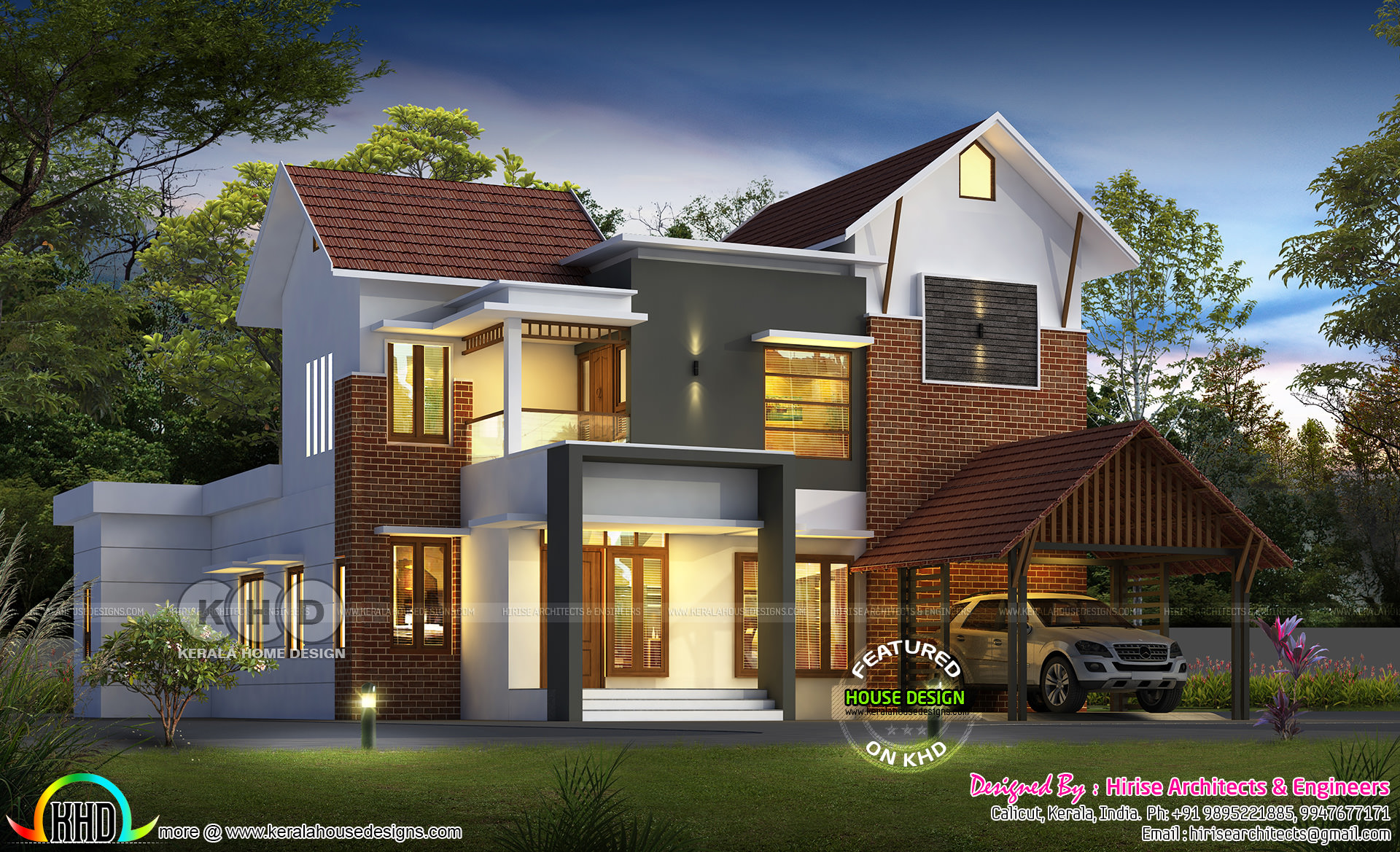 Contemporary Single Floor Home In 1350 Sq Ft: 2300 Square Feet Awesome Kerala House Design