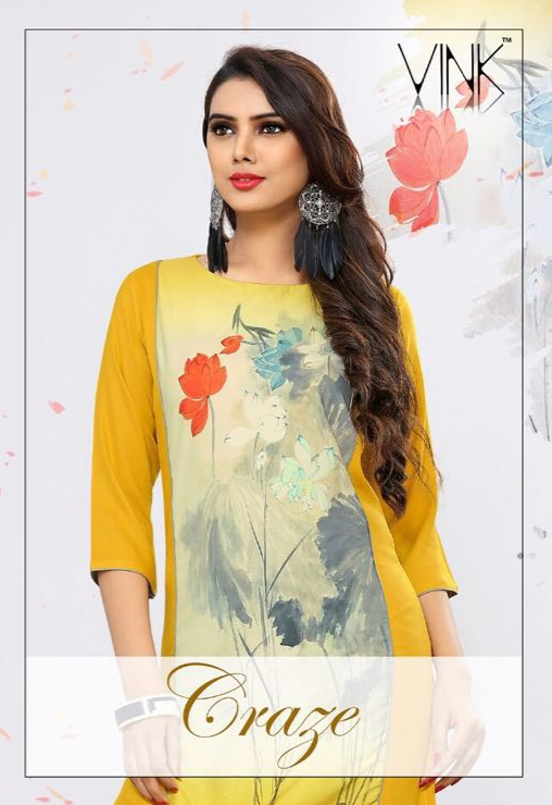 Vink craze daily wear printed kurtis collection