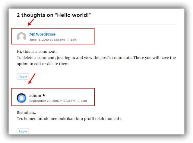 Cara Menampilkan Foto Profil di Wordpress