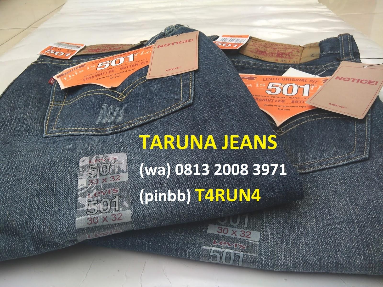 Levis Original 501 Hanya Di Taruna Jeans Pinbb T4run4 Celana Pendek 505 Mens Pria Asli Kw Super 511